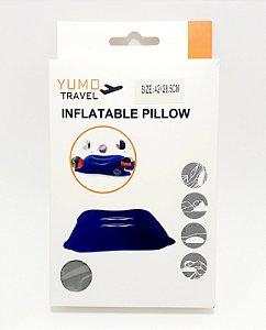 Travesseiro Inflável De Veludo - Cinza