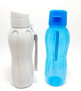 Squeeze De Plástico 600ml Com Tampa Colorido - Clink
