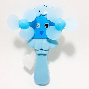 Ventilador De Mão Portátil Azul - Temático Picolé