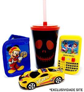 Kit Brinquedos Temáticos Infantil Com Copo I - 4 Peças