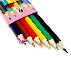 Caixa Com 6 Lápis De Cor - CX04 Rosa
