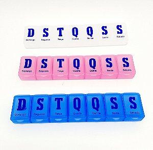Porta Comprimidos/Remédios Organizador Semanal - Colorido
