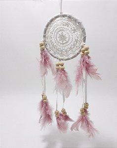 Filtro Dos Sonhos Decorativo Para Pendurar - Rosa
