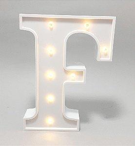 Luminária De Plástico Letra F - Branco