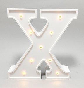 Luminária De Plástico Letra X - Branco