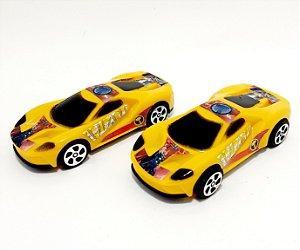 2 Carrinhos Amarelos De Brinquedo Personagens - Thor - Etitoys