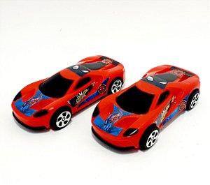 2 Carrinhos Vermelhos De Brinquedo Personagens - Spider Man - Etitoys