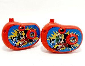 2 Câmeras Fotográficas Infantil Com Imagem Mickey- Vermelho - Etitoys