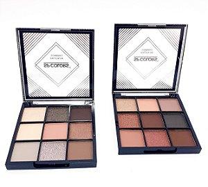 Paleta De Sombras Com 9 Cores - SP Colors