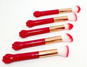 Pincel Para Maquiagem Com Cabo Patinha - Pink