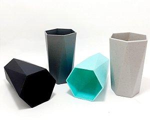 Copo De Plástico Organizador Multiuso Poligonal - Colorido