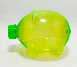 Cofre De Plástico Verde - Porquinho