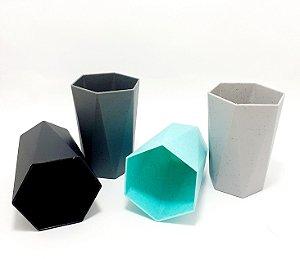 Copo Pequeno De Plástico Organizador Multiuso Poligonal - Colorido