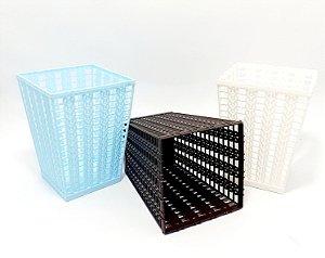 Cestinha Organizadora Trançada De Plástico - Colorido