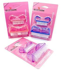 Escova Para Unha Embalagem Com 2 Unidades Colorido - Bello Charme