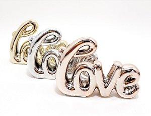 Enfeite Decorativo De Cerâmica Colorido - Temático Love