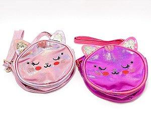 Bolsa Infantil De Gatinho Pequena Com Alça - Holográfica