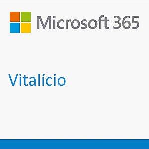 Microsoft 365 Vitalício - 5 Licenças (Pc, Mac, Android ou IOS) + 1 tb One Drive