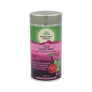 Chá Tulsi Pétalas de Rosa Organic India - Lata 100g