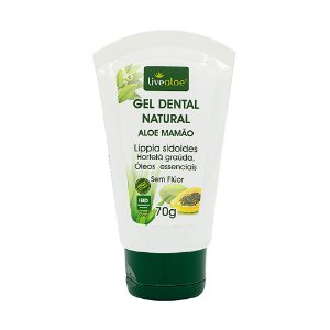 Gel Dental Natural Aloe e Mamão Livealoe 60g