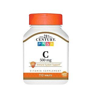 Vitamina C 500mg, 110 comprimidos - 21st century