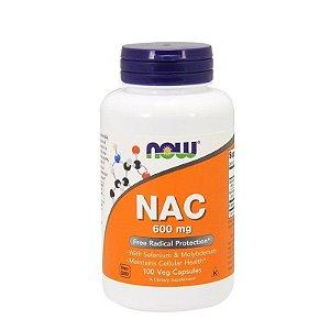 Nac N-acetil L Cisteína 600mg, 100 cápsulas - Now Foods