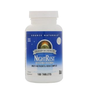 Night Rest com Melatonina, 100 comprimidos - Source Naturals