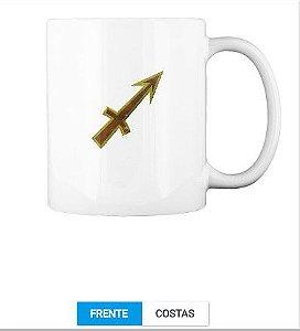 Signo Sagitário Caneca Personalizada com o zodíaco