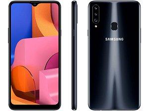 """Smartphone Samsung Galaxy A20s, Preto, Octa-Core, Tela de 6,5"""", 32GB, Câmera Tripla 13MP+5MP+8MP"""