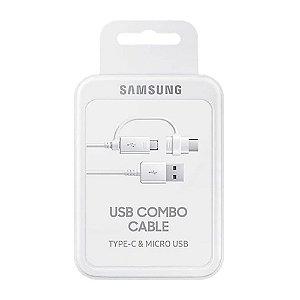 Cabo Samsung Micro USB Combo Tipo C Cable Ep-dg930dwegww - Branco Original