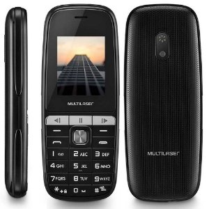Celular UP Play Multilaser P9076 Preto Dual Chip MP3 Camera Lanterna