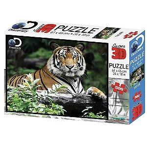 Quebra Cabeça Super 3D Tigre C/500 Peças BR1059