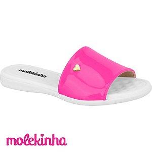 Sandália Feminina Slide Pink Infantil Molekinha