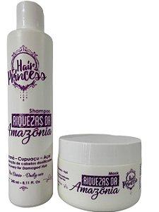 Kit Home Care Riquezas Da Amazônia Hair Princess 2 Passos