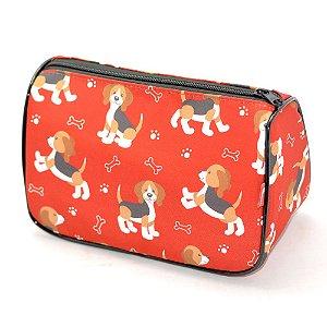 Necessaire Trapézio P Pets Beagle Vermelho