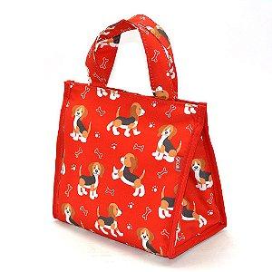 Frasqueira Térmica com Velcro Pets Beagle Vermelho