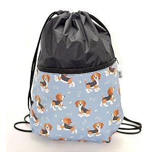 Sacochila Pets Beagles Cinza