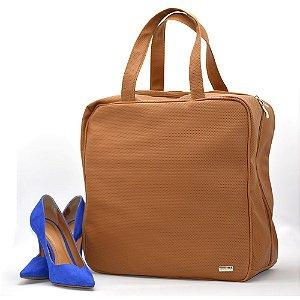 Bolsa Organizadora Sapatos Viagem 6 pares Couro