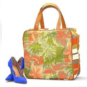 Bolsa Organizadora Sapatos Viagem 6 pares Estampa Floral