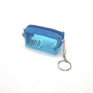 Chaveiro Porta Moeda Citricus Transparente Azul