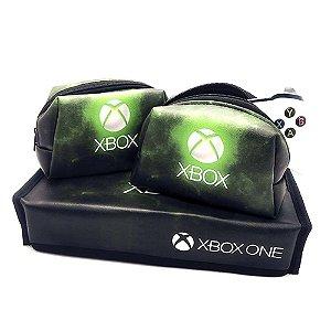 Capa Xbox OneS + 2 Cases Controle com forro anti-impacto