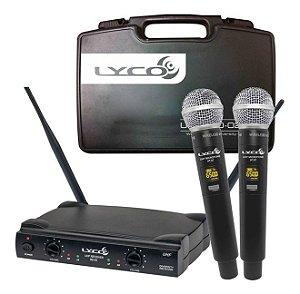 Microfone Lyco Sem Fio Duplo UH-08MM