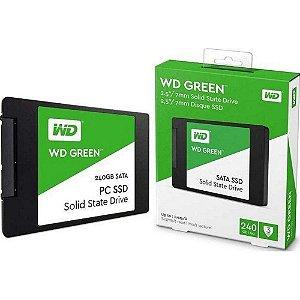 Ssd WD Green 240GB, SATA Leitura 545MB/s Gravação 465MB/s - WDS240G2G0A