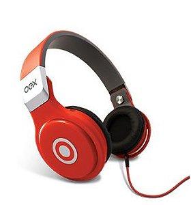 Headset com Microfone OEX HP102 - vermelho