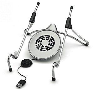 Base Ergonômica Uptable para Notebook com Cooler Cromado/Cinza UPC-01 - Octoo