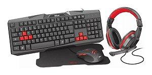 Kit gamer ZIVA 4X1 teclado/mouse/headset/mousepad T22428 - TRUST