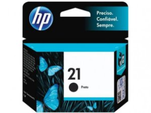 Cartucho HP 21 Preto Original