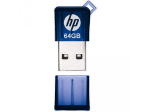 Pendrive Mini HPFD165W2-64  USB 2.0 64GB Azul - HP