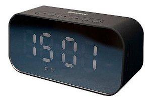 Caixa De Som Bluetooth Rádio Relógio Despertador 3w Clock-01