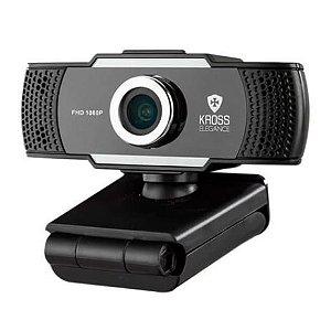 Webcam Kross Elegance Hd 1080p Com Tripé E Tampa Ke-wbm1080p